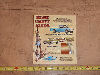 ORIGINAL 1978 CHEVROLET TRUCK AUTOMOBILE DEALER SALES BROCHURE (lot 306)