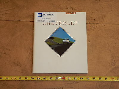 ORIGINAL 1992 CHEVROLET AUTOMOBILE DEALER SALES BROCHURE (lot 332)