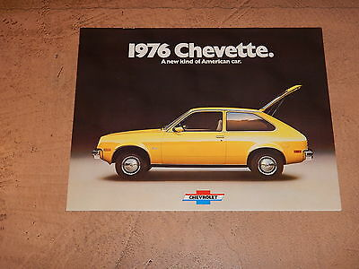 ORIGINAL 1976 CHEVROLET CHEVETTE AUTOMOBILE DEALER SALES BROCHURE (lot 192)