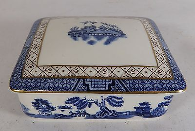 Royal Doulton Booths Blue and White 'Real Old Willow' Lidded Box