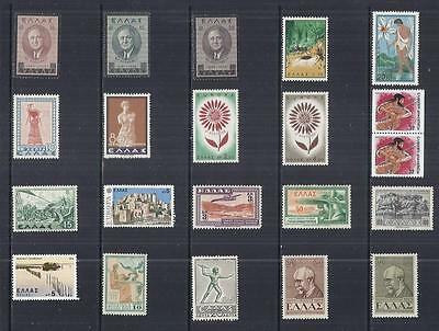 y860 Greece /  A Small Collection Early & Modern Hinged Mint