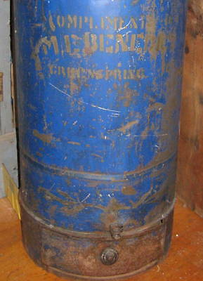 Outstanding Antique Countrystore Flour Tin Best Old Blue Paint,lettering Aafa Nr
