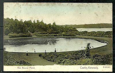 Postcard : Castle Kennedy and the Round Pond, posted Castle Kennedy 1905