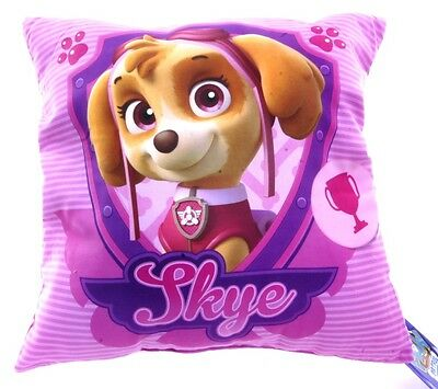 New Official Childrens Pink Skye Double Sided Paw Patrol Cushion Pillow