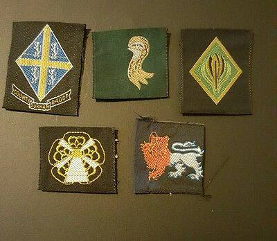 girl guide association county ribbons rare misprints x 5