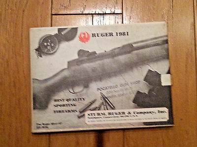 Ruger Fold Out Gun Catalog 1981- Firearms
