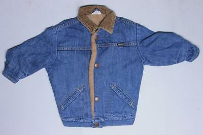 Vintage Lil Wrangler Sherpa Fleece Lining Work Denim Jean Boys Toddler Jacket
