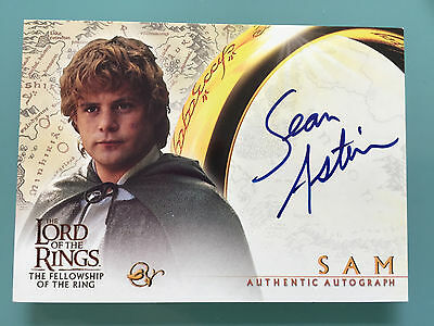 Lord of The Rings LOTR FOTR Sean Astin TOPPS SAM signed Autograph Card