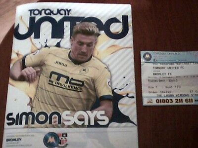 2015/16 TORQUAY UNITED  v BROMLEY. NATIONAL LEAGUE 19/9/15 SCORE WAS 3-7