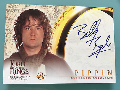 Lord of The Rings LOTR FOTR Billy Boyd TOPPS PIPPIN signed Autograph Card UACC