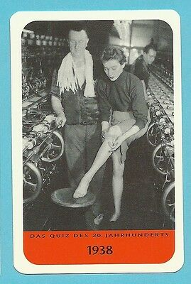 Invention Ladies Nylon Stockings 1938 Cool Collector Card from Europe