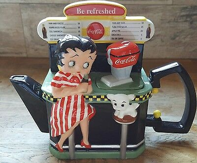 Betty Boop Teapot Inspired by the Original Coca-Cola Art 1940s