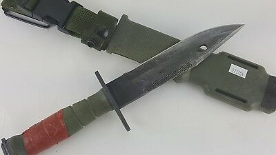M-9 Ontario M9 Tactical Knife & Scabbard Usgi Usa Made Military Surplus #04