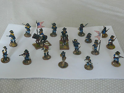 28MM BRITANNIA MINIATURES OLD WEST  7th US CAVALRY PAINTED