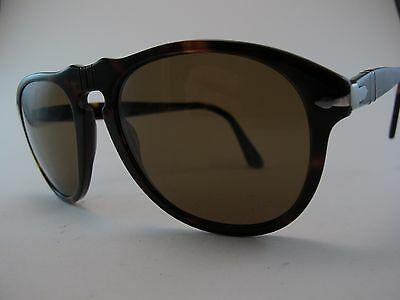 Vintage Persol 649 Sunglasses Size 56-20 Men's Medium Hand Made in Italy Exc