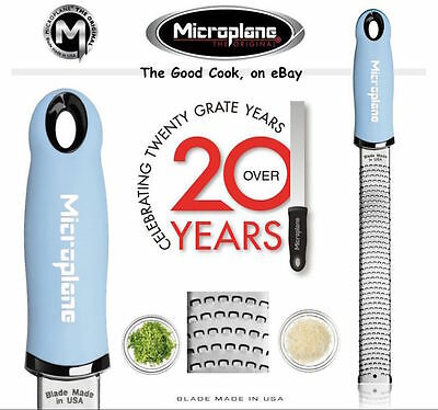 New  BABY BLUE  Microplane Premium Classic Fine Zester Grater Comfort Handle USA