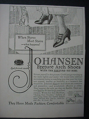 1925 Johansen Feeture Arch Shoes Vintage Print Ad 11919