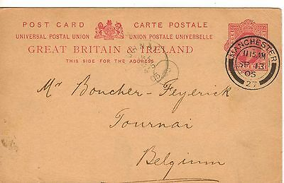 Great Britain:1905:Postcard Sent to Belgium With request for Goods,