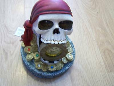 Walt Disney World Parks Exclusive Skull POTC Pirates of the Caribbean Clock New