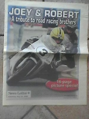 joey & robert dunlop - newspaper 16 page picture special