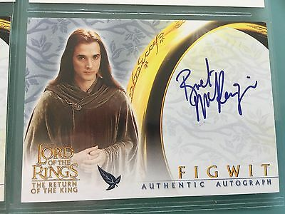 Lord of The Rings LOTR ROTK TOPPS Bret McKenzie FIGWIT signed autograph Card
