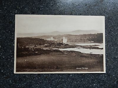 Early postcard- alternative view - Menai bridge - Anglesey - North Wales