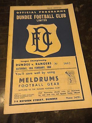 Dundee  V Rangers 10/2/68 Division one