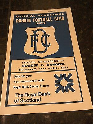 Dundee   V Rangers 10/4/71 Division one