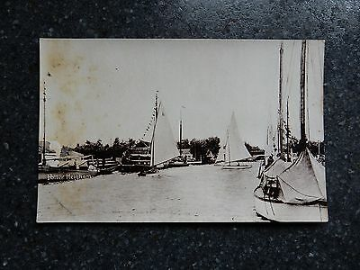 Early Postcard - Sailing at Potter Heigham - Norfolk Broads