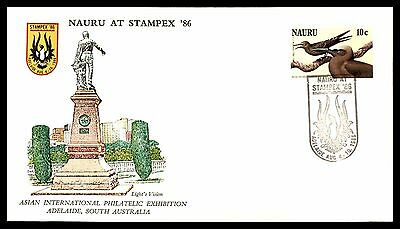 1986 Nauru Birds Stampex Fdc First Day Cover