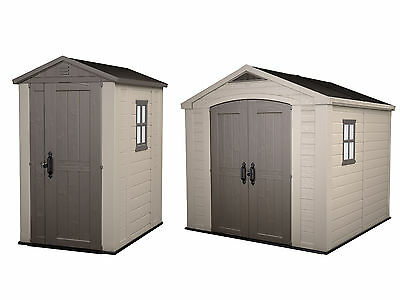 Keter Apex Plastic Steel Reinforced Garden Shed - Choice of Size-From Argos ebay