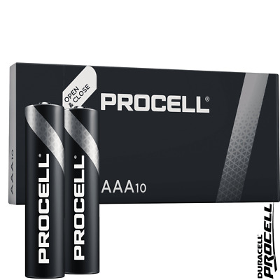Duracell Industrial AAA LR03 ID2400 Batteries | Box of 10 | MX2400 K3A MN2400
