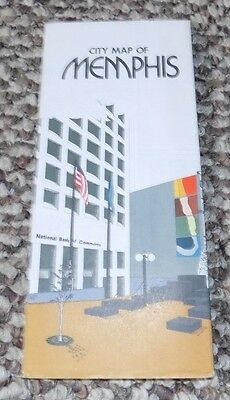 Vintage 1976 City Map of MEMPHIS Tennessee - National Bank of Commerce !