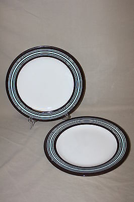 Pair Laurie Gates Casual Blues 11 3/4 In. Dinner Plates 21191**
