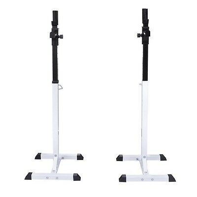 100kg Barbell Squat Rack Stand Set for Curl Bar Support or Bench Weight Lifting