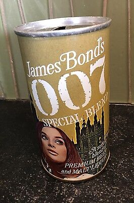 12 oz James Bond's 007 Pull Tab Beer Can Condition Amazing.