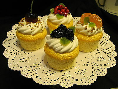 Artificial Glazed  Fruit Cupcakes Tv Theatre Prop Shop Advertising Display 41