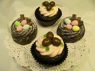 Fake Artificial Chocolate Easter Cupcakes Advertising   Food Prop Display 38