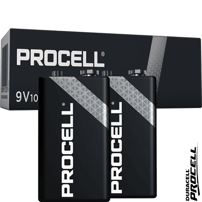 Duracell Industrial 9V PP3 6LR1 ID1604 Batteries | Box of 10 | 6LR61 MN1604