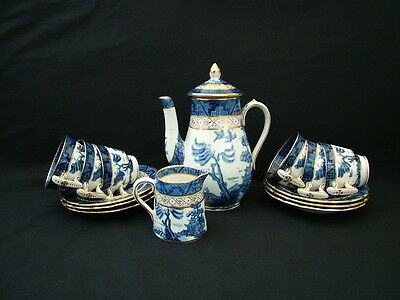 Booths China Real Old Willow coffee set with demitasse cups