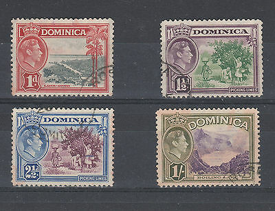 Dominica 1938-47 Used 4 Stamps As Scanned