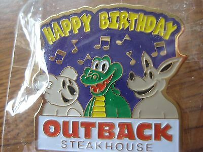 Outback Steakhouse Restaurant Happy Birthday Pin Pinback NIP