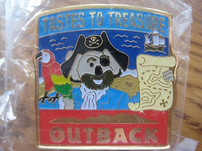Outback Steakhouse Restaurant Tastes To Treasures Pirate Pin Pinback NIP