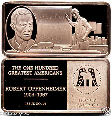 Robert Oppenheimer Commemorative Proof Bronze Ingot Medal