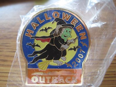 Outback Steakhouse Restaurant Halloween 2007 Witch Pin Pinback NIP