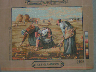Printed Fabric for Cross-stitch by Margot entitled Les Glaneuses; Cross Stitch