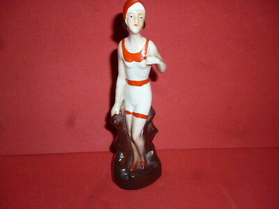 Vintage 1920's/30's's Bathing Belle Figurine ? Marked Foreign