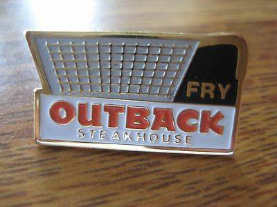 Outback Steakhouse Restaurant Fry Basket Pin Pinback