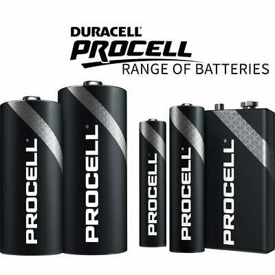 50 x Duracell Procell Professional Alkaline Batteries AA AAA C D & 9V / PP3