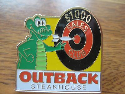 Outback Steakhouse Restaurant $1000 Sales Club Target Crocodile Pin Pinback